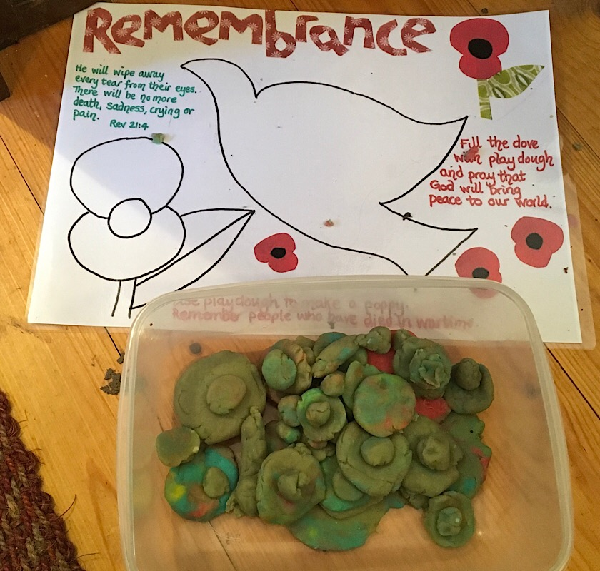 Play dough poppies