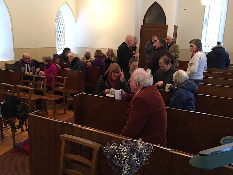 Refreshments after the service